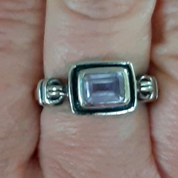 Silpada silver amethyst ring